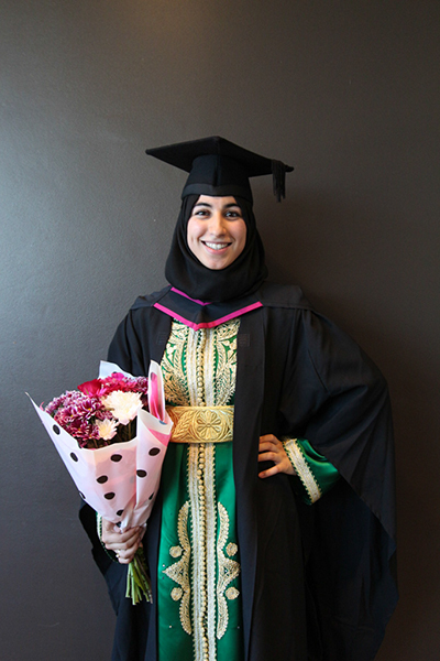 Iman Benali has graduated from BA Textile Design.