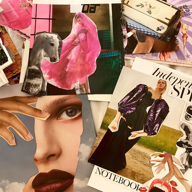 Collage of fashion magazines