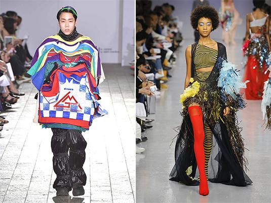 Left, Goom Heo, BA Fashion 2017, and right, Gabriella Sardena, MA Fashion 2017