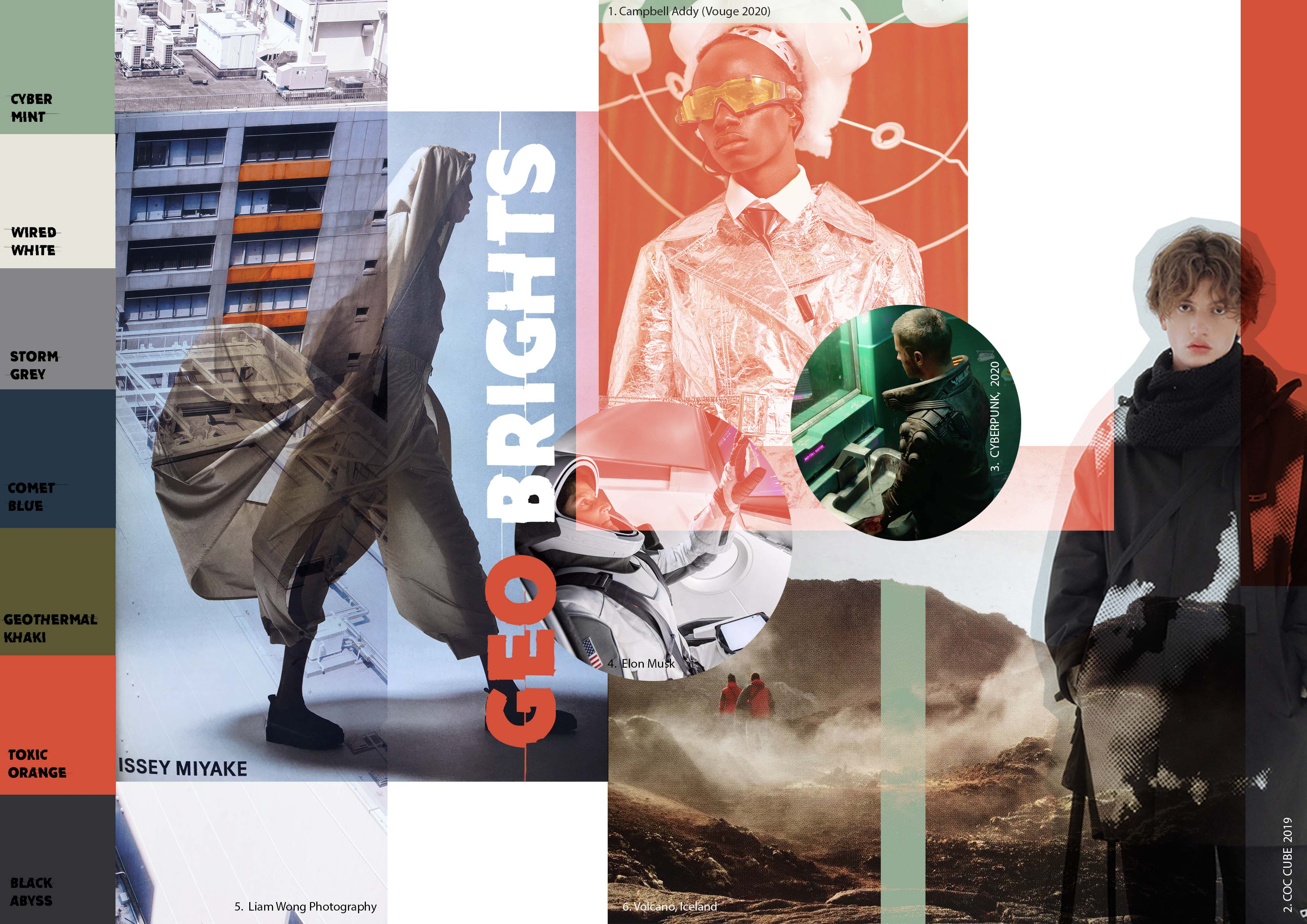 A collage of work produced by Jane Dark