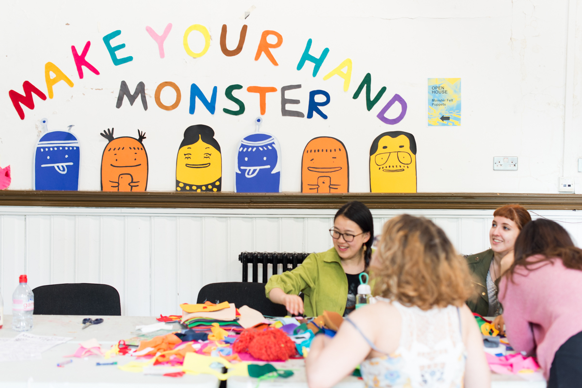 Make Your Own Felt Monster Hand Puppets