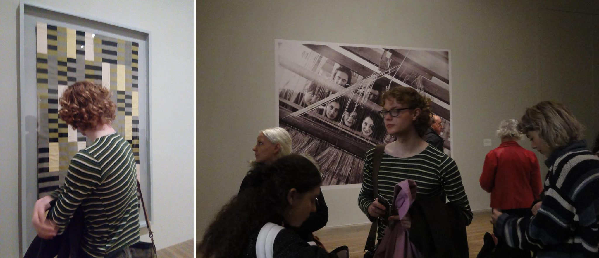 Students visited the Anni Albers exhibition at Tate Modern and received a curator's tour. Photos by Juan Bolivar.