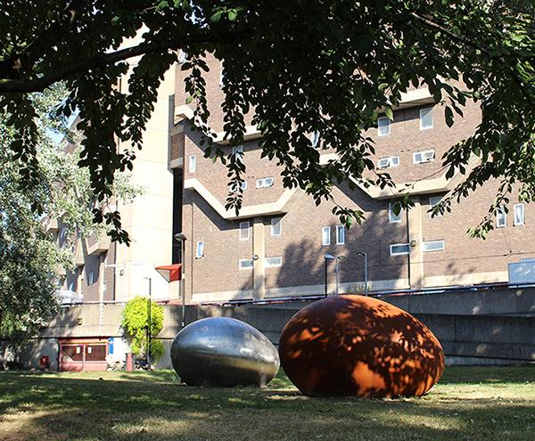'Twins', public sculpture by Taslim Martin