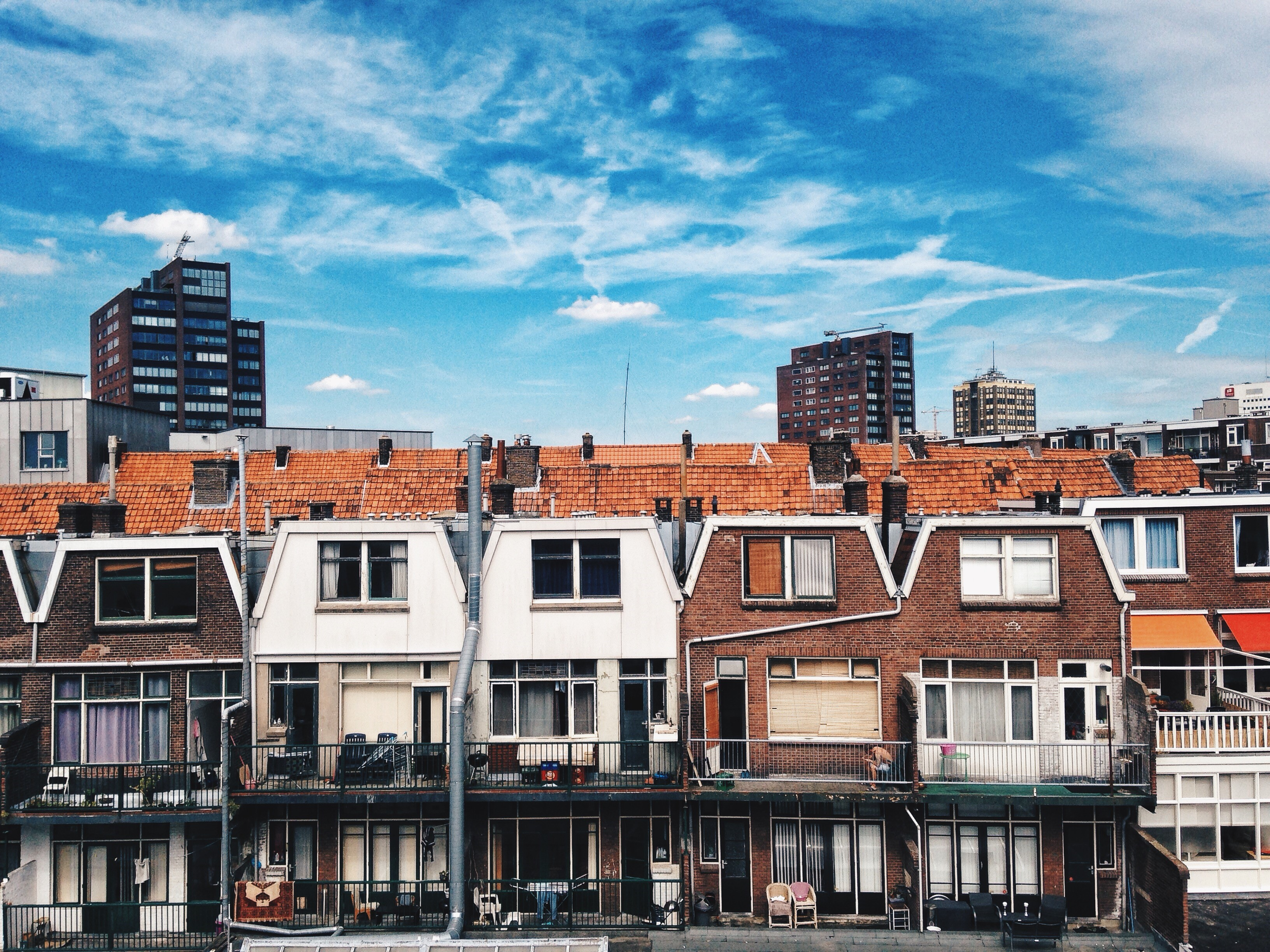 View from Anna's window in Rotterdam