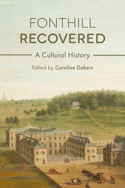 A book cover featuring an illustration of Fonthill estate