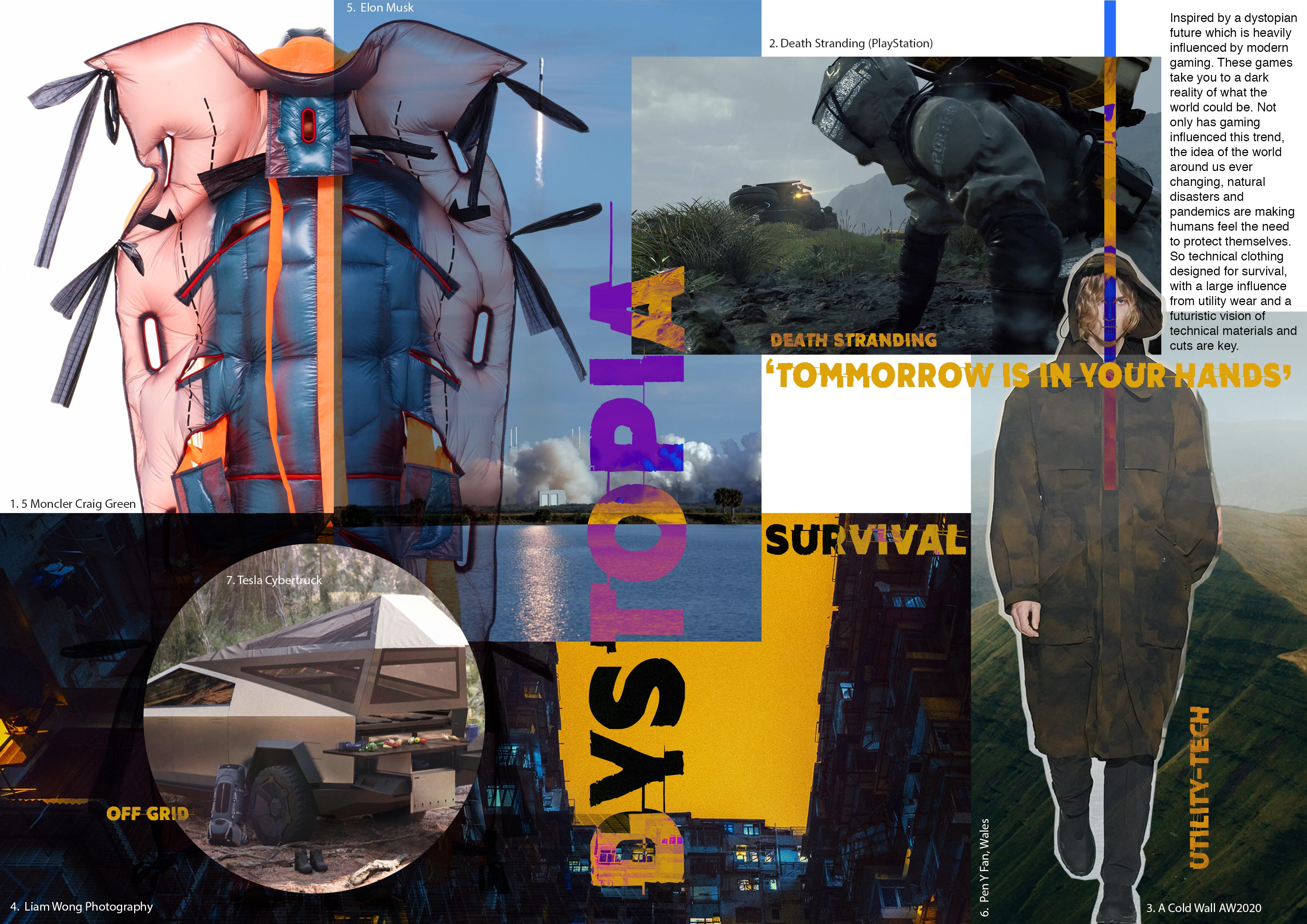 A trend board of ideas by Jane Dark for the concept of Dystopia
