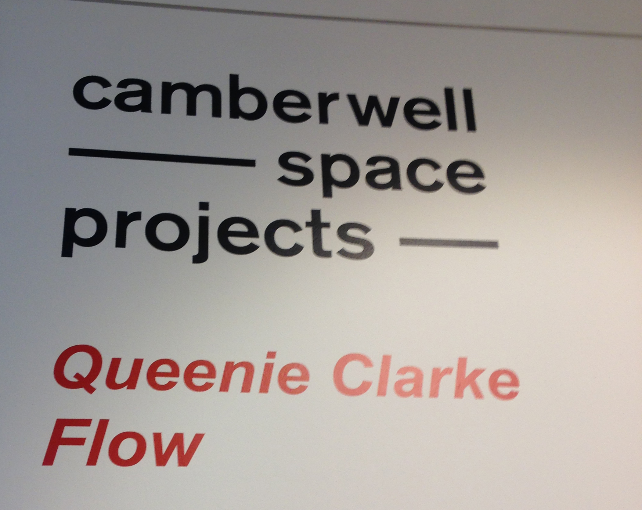 Queenie Clarke at Camberwell Space Projects