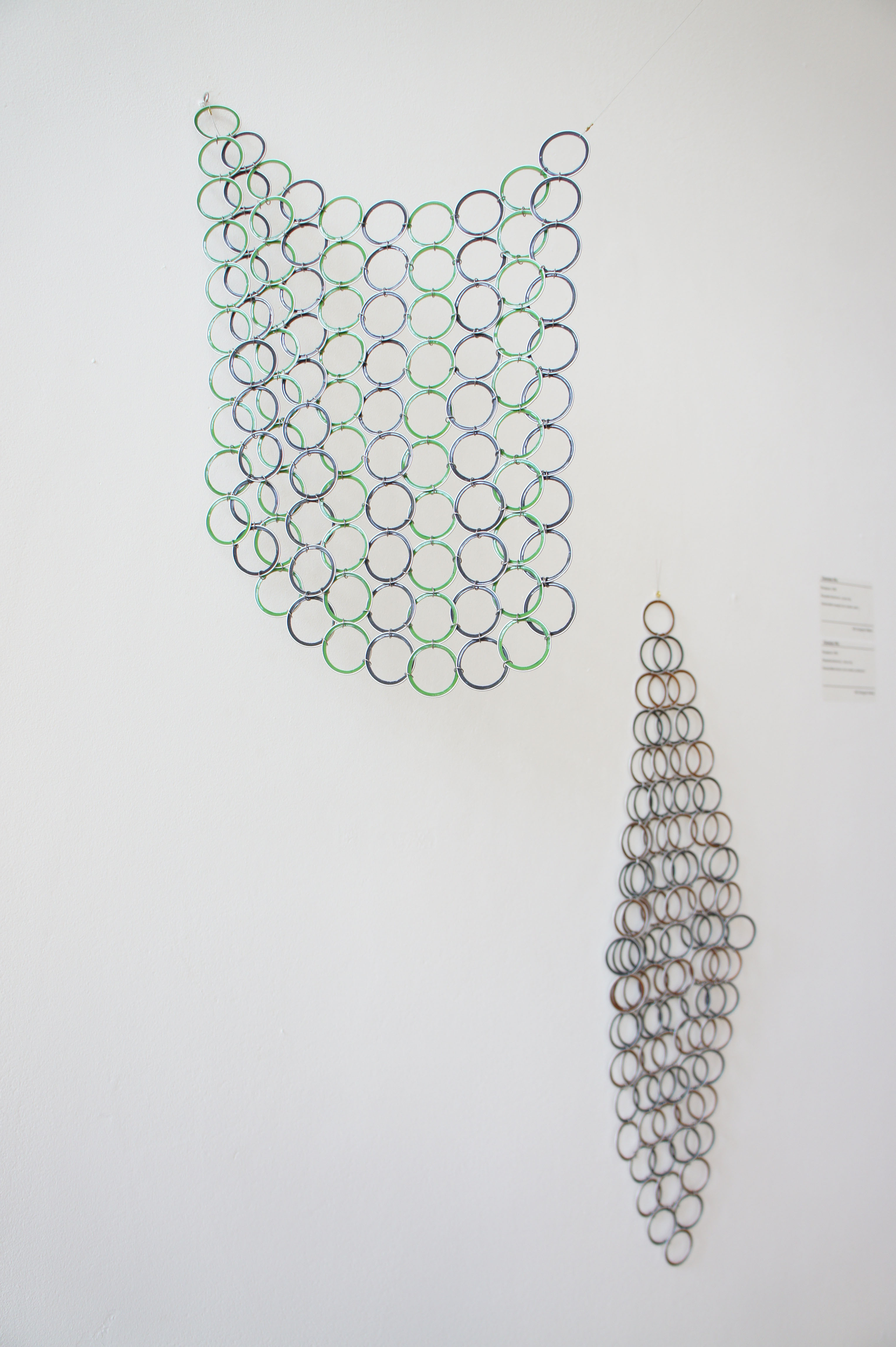 'Recapture 1068', Recycled aluminum, jump ring, Handcrafted woven room divider