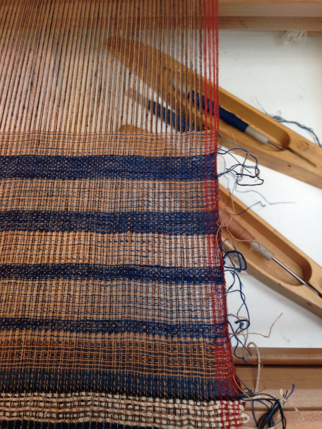 Weaving swatch on loom - Prerna Gupta