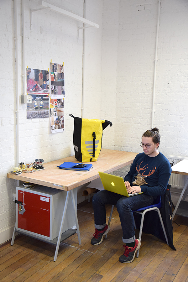Andrew Illman in his Studio at Chelsea by Gavin Freeborn