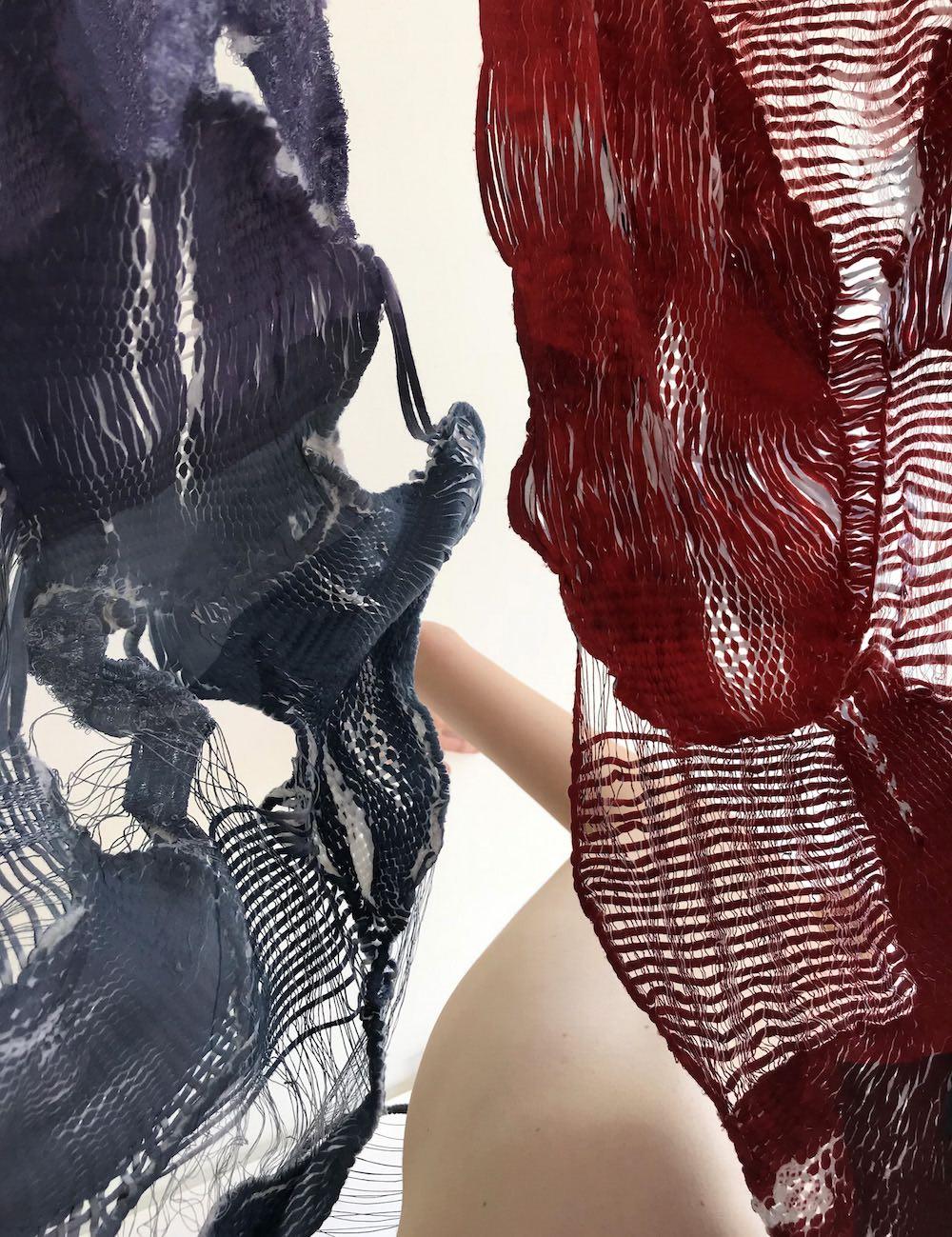 BA (Hons) Fashion Textiles Embroidery student Valia Kapeletzi for LCFBA18.