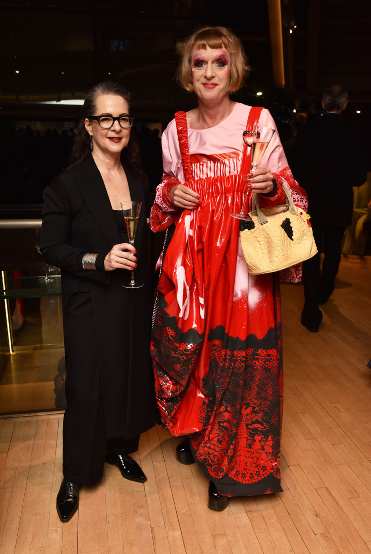 Professor Frances Corner and Grayson Perry. Photo by Richard Eaton
