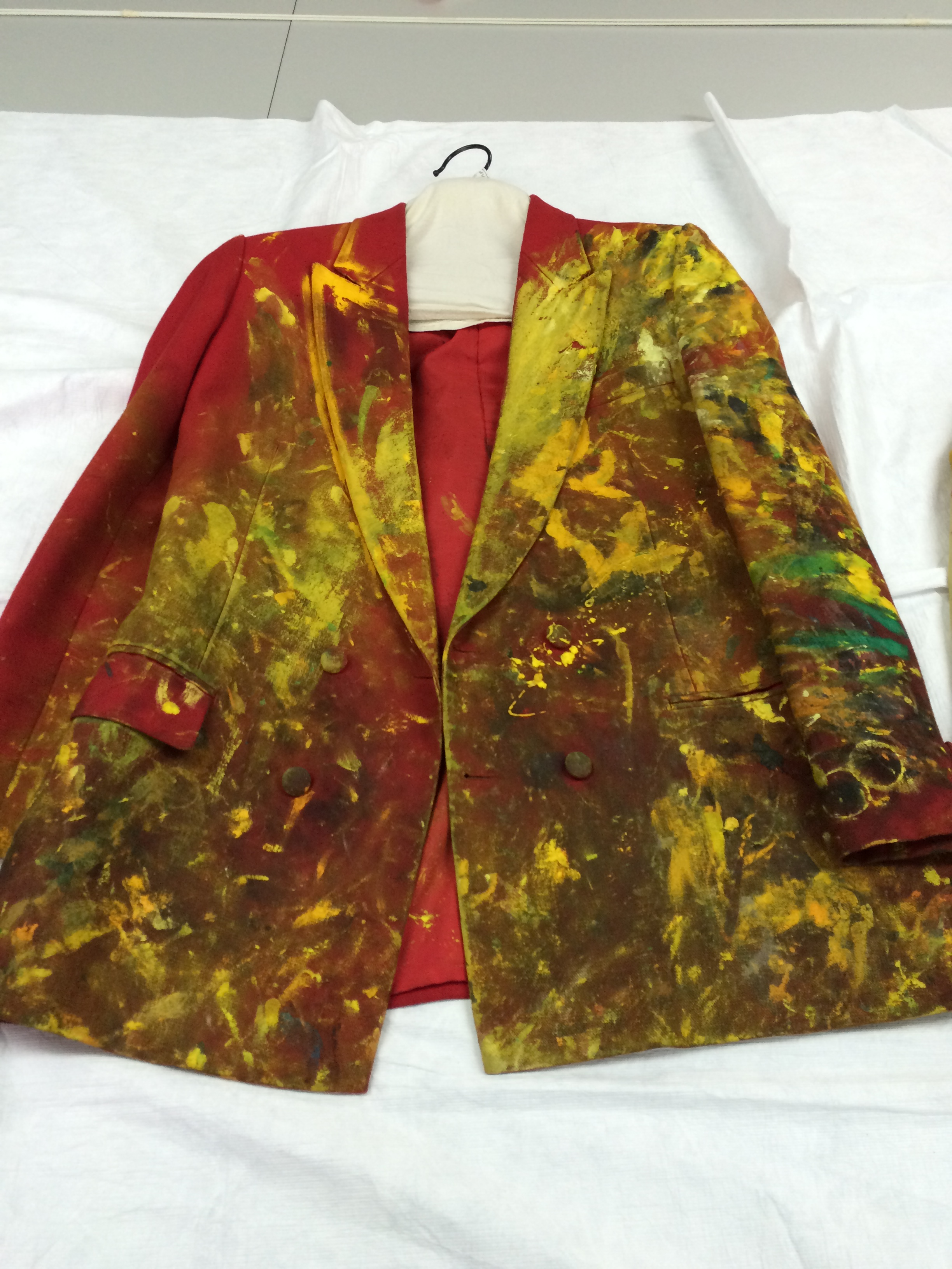 Sebastian Horsley Paint Suit Jacket