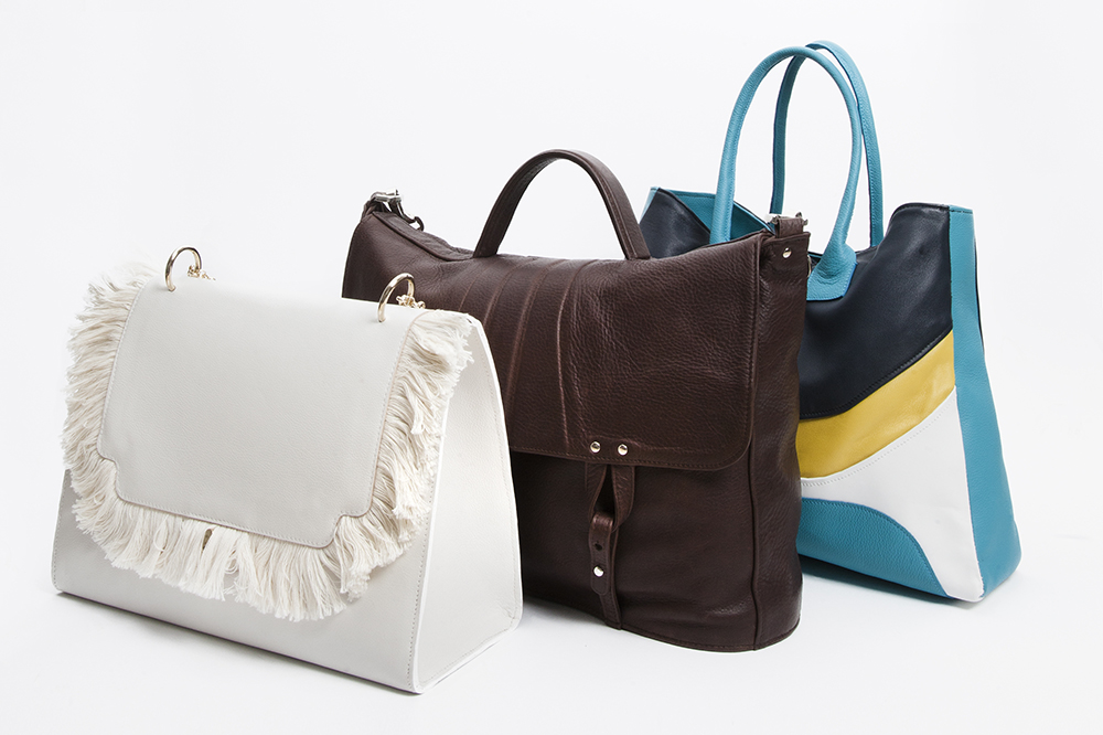 The three bags for the British Association for Adoption and Fostering fundraising.
