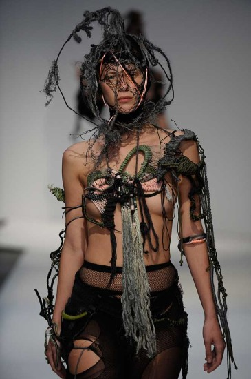 Photography: Anders Birger. Collection: Nathalie Ballout, BA (Hons) Fashion Textiles: Embroidery