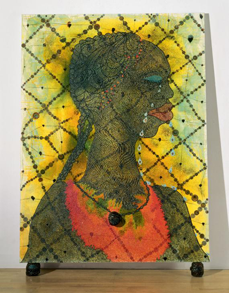 No Woman, No Cry 1998 by Chris Ofili. Image courtesy of Tate.