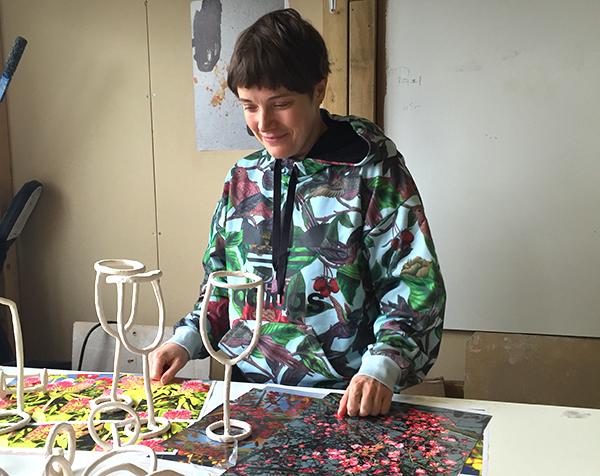 Emma Hart in her studio London