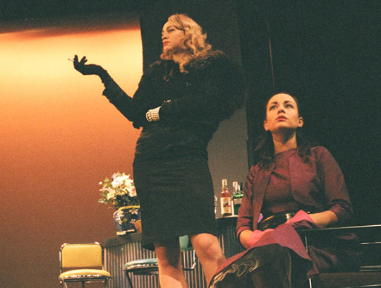 The Country Wife BA Acting Group 41 20042005 Gwendoline Christie standing Photo Mark Duffield