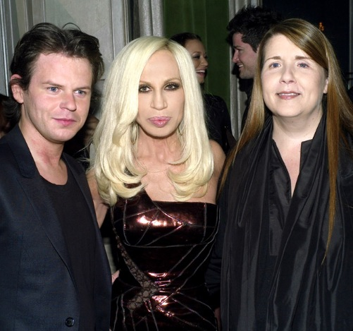 Christopher Kane with Donatella Versace and Louise Wilson