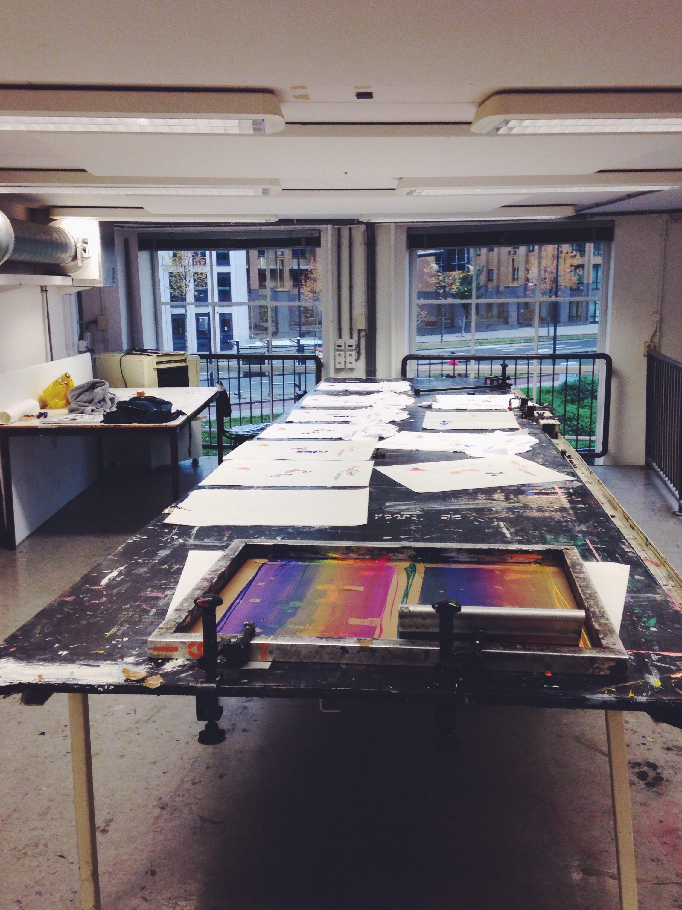 Screen printing facilities at Willem de Kooning University, Anna Egorova