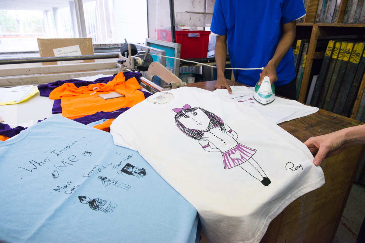 T-Shirts in production
