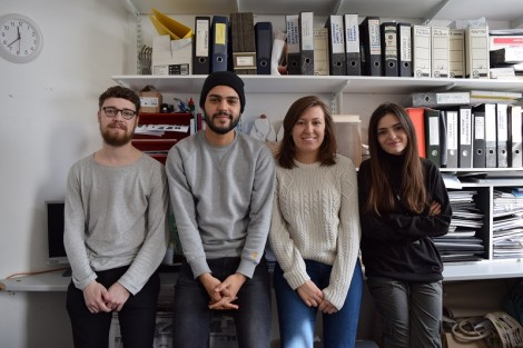 FdA Interior Design students Sam Laver, Nathanaël Soussana, Isobel Youngman and Nour Mady