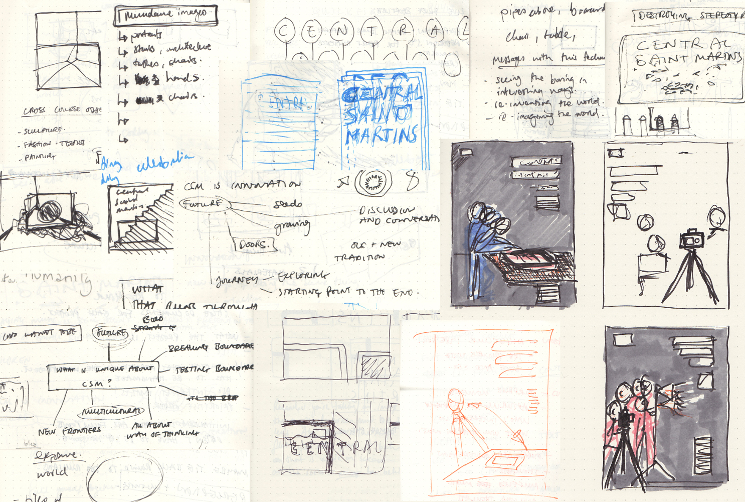 Stefan and Nikita's preliminary sketches.