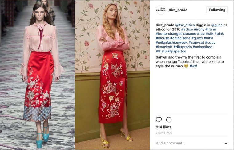 Diet Prada Instagram shot