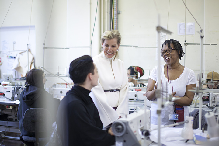 The Countess of Wessex during her visit to LCF's Curtain Road. Image credit: Emmi Hyyppa