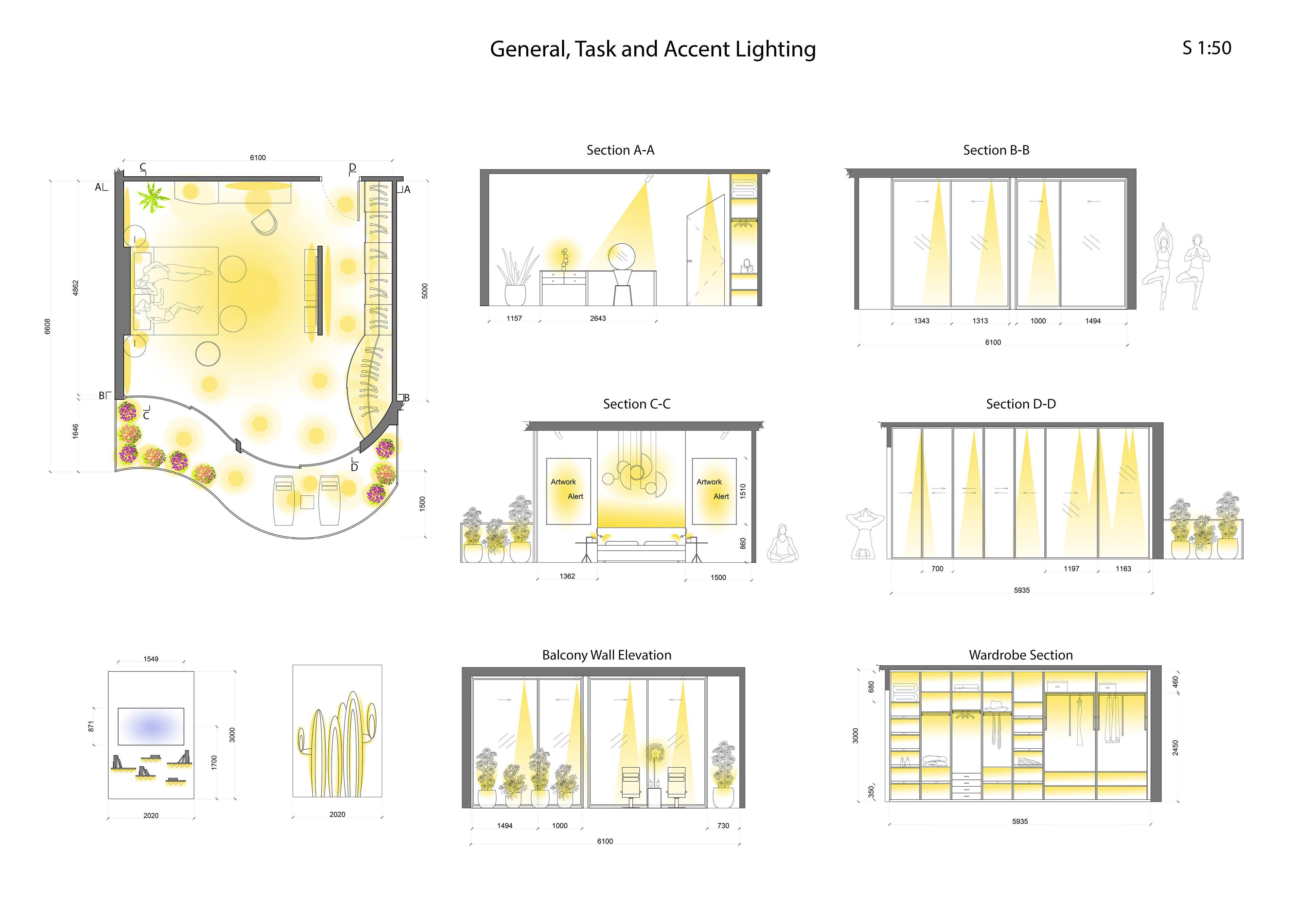 Accent Lighting Work by Madina Masimova