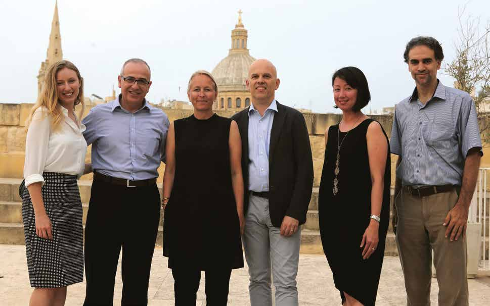 PeiChin Tay with other European design experts and partners in Malta