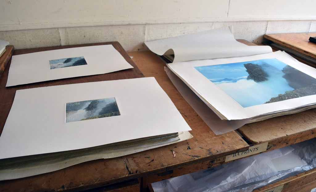 Samples from Brian's new etching process that is currently in development