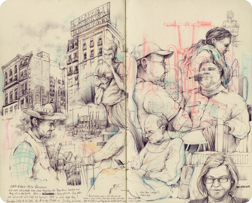 Pat Perry - EU Sketchbook courtesy of www.patperry.net