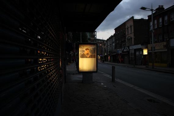 Radu Nastasia - Tobey Maguire | Billboard installation | 213 Rye Lane, Peckham, London, UK