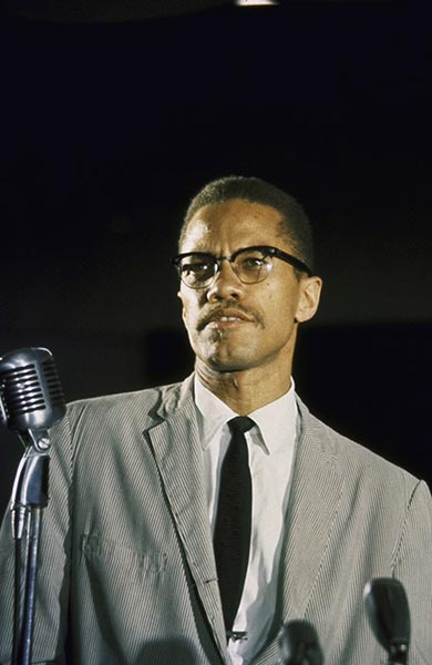 Malcolm X, 1964, photographed by Robert Parent. Photo: Robert Parent/Getty Images.