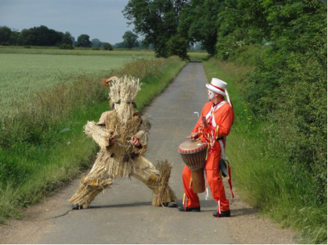 Straw Bear and Deptford Dave, from the film By Our Selves (Iain Sinclair)