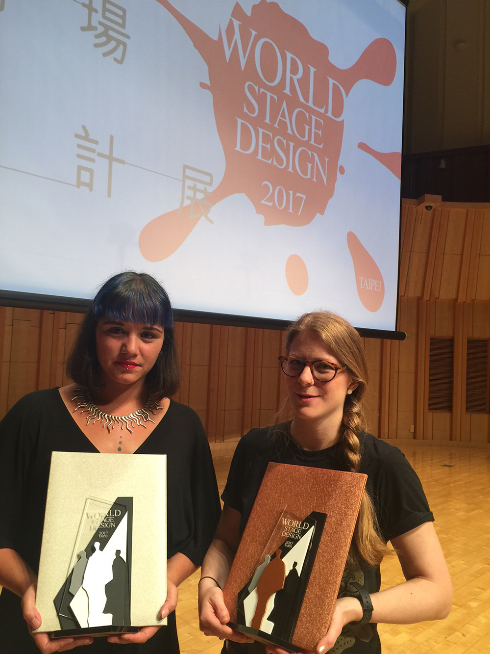 Alumnas Daphne Karstens and Clare McGarrigle win at World Stage Design Exhibition.
