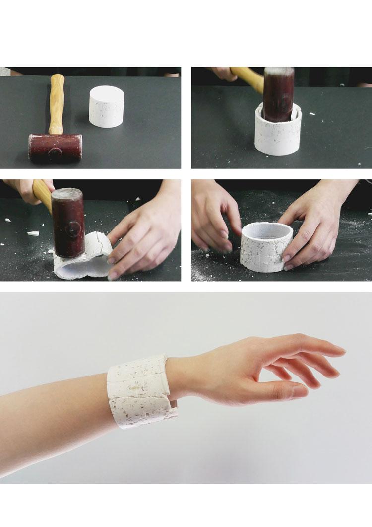 Final smaples and smashing process by Suinan Li