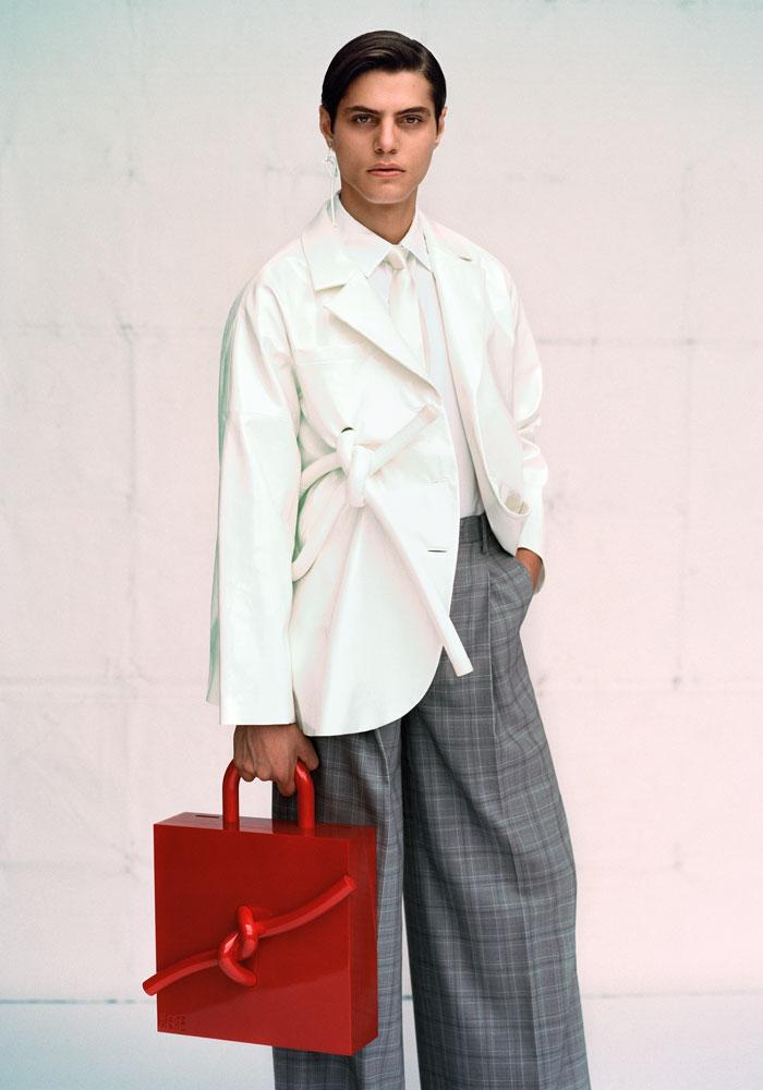 Zhenhao Guo, MA Fashion Design Technology Menswear 2017; MA Fashion Design Technology Menswear; Photographer – Michiel Meewis; Creative Director – Darren Cabon; Hair – Dora; Visage – Waka; Assistants – Christiana, Jay, Matteo.