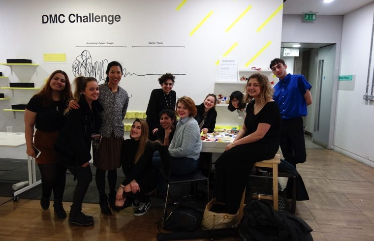 BA (Hons) Design Management and Cultures students with co-course leader, Mo-Ling at the Hopes, Struggles and Tensions exhibition.