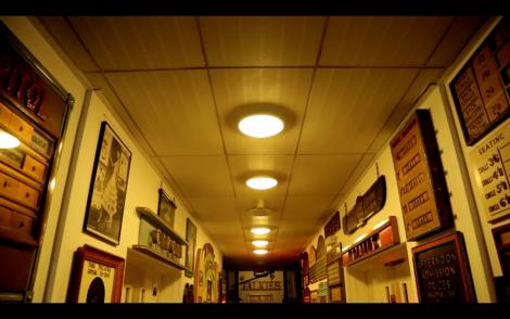 A shot of the Cinema Museum's memorabilia