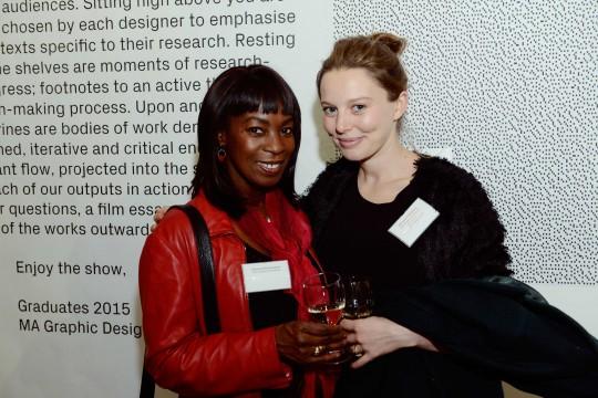 Beverley Heath-Hoyland, with The John Hoyland Scholarship recipient, Rhiannon Salisbury