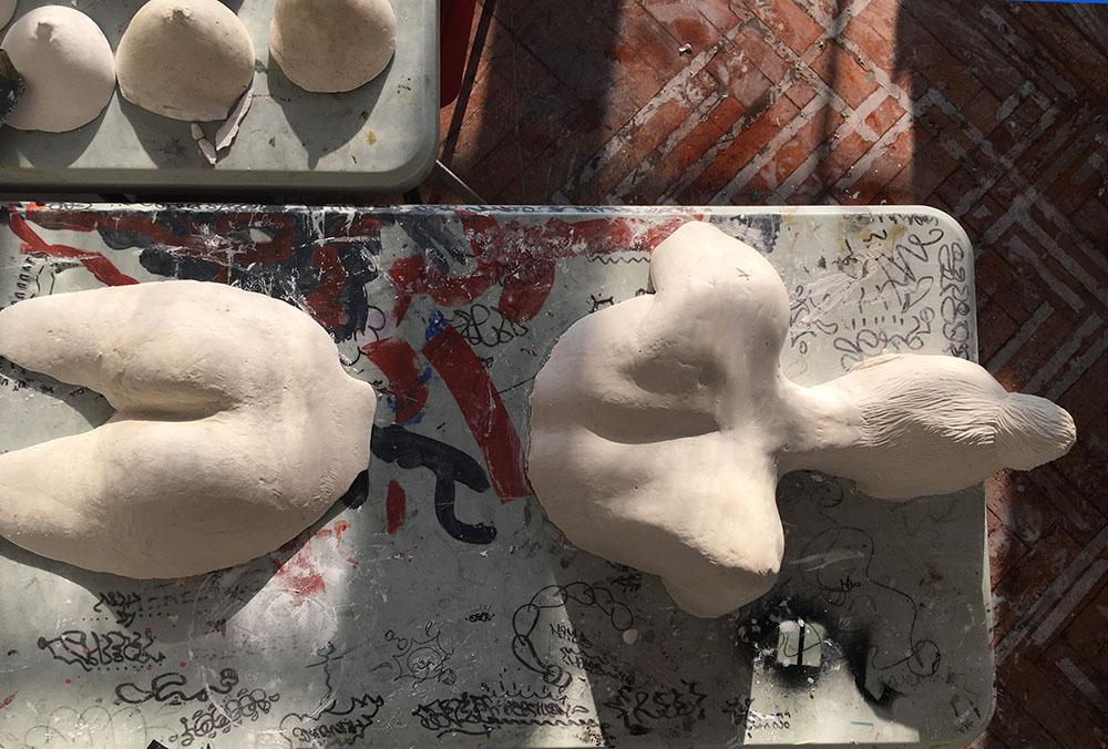 Sculpture work Work by Foundation Student Joanna Lawn