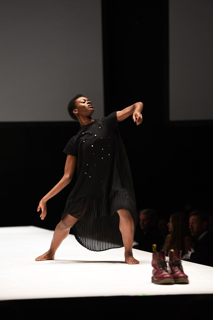 BBC Young Dancer 2017, Nafisah Baba inm a dress by event sponsor Reserved. Photo by Richard Easton