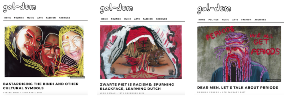 BA (Hons) Creative Direction for Fashion student Nicole Chui worked with gal-dem.