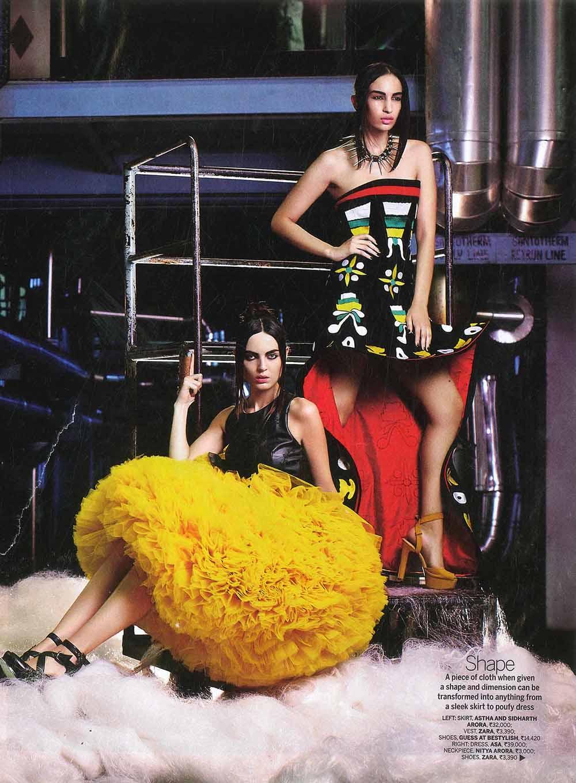 MA Fashion Media Production student Saloni Dahake helped style for Femina Magazine.