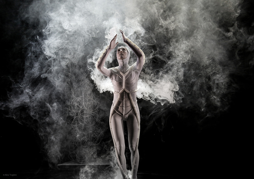 MA Costume Design for Performance student Daphne Karstens also worked with smoke machines for PING.