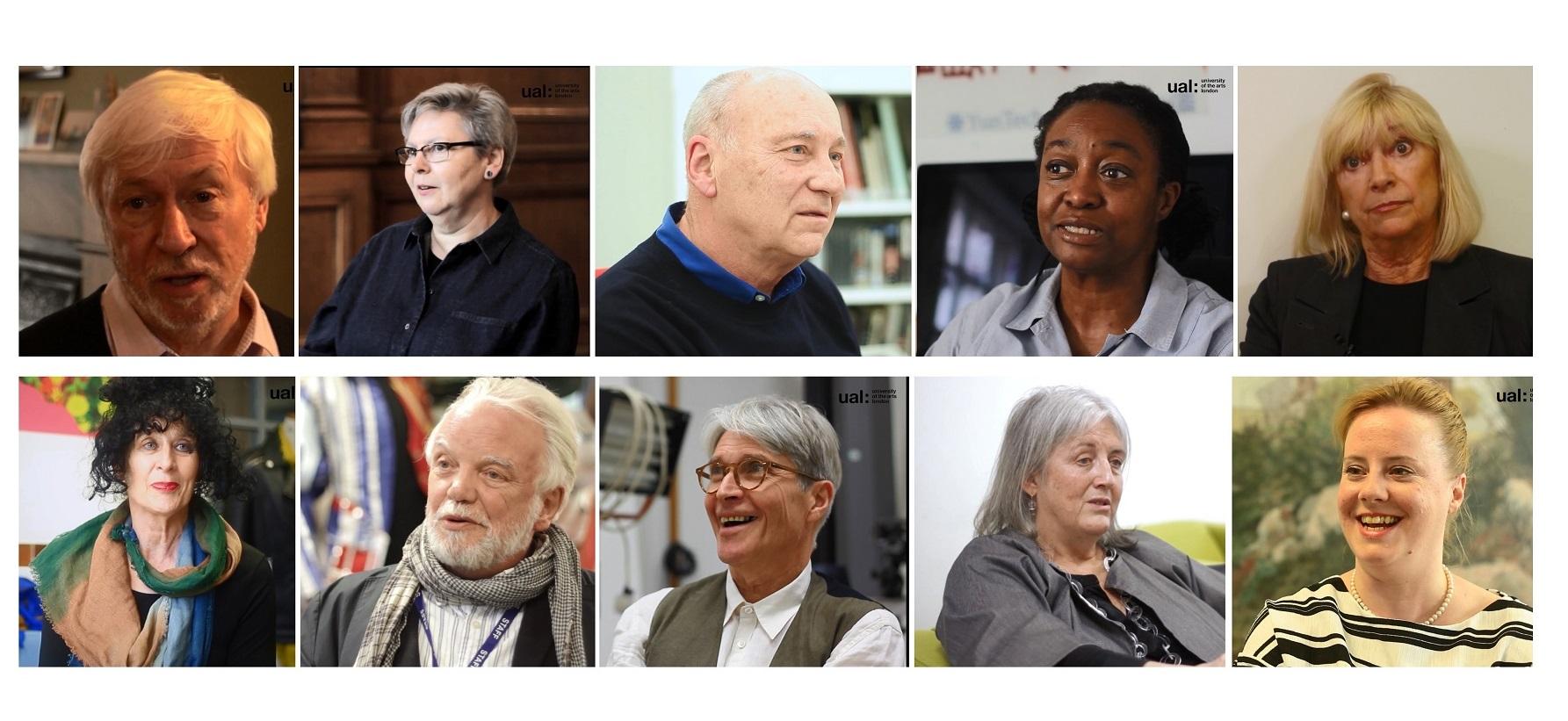 UAL oral histories speakers image