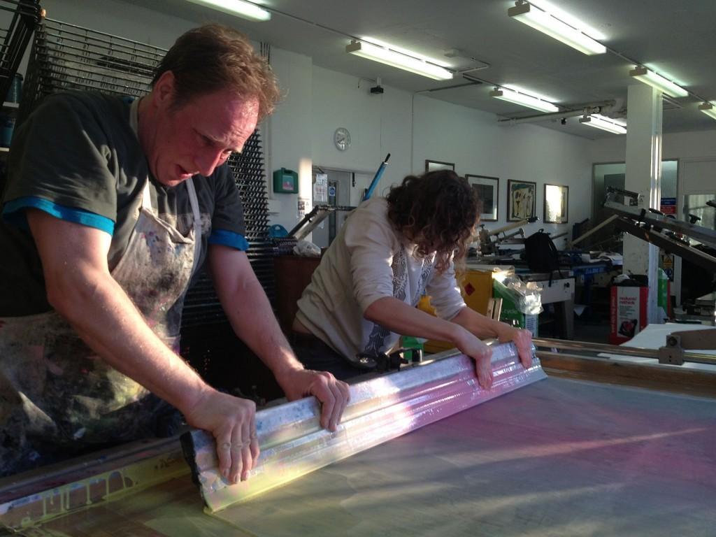 Ewelina Skowronska at Camberwell printing studios