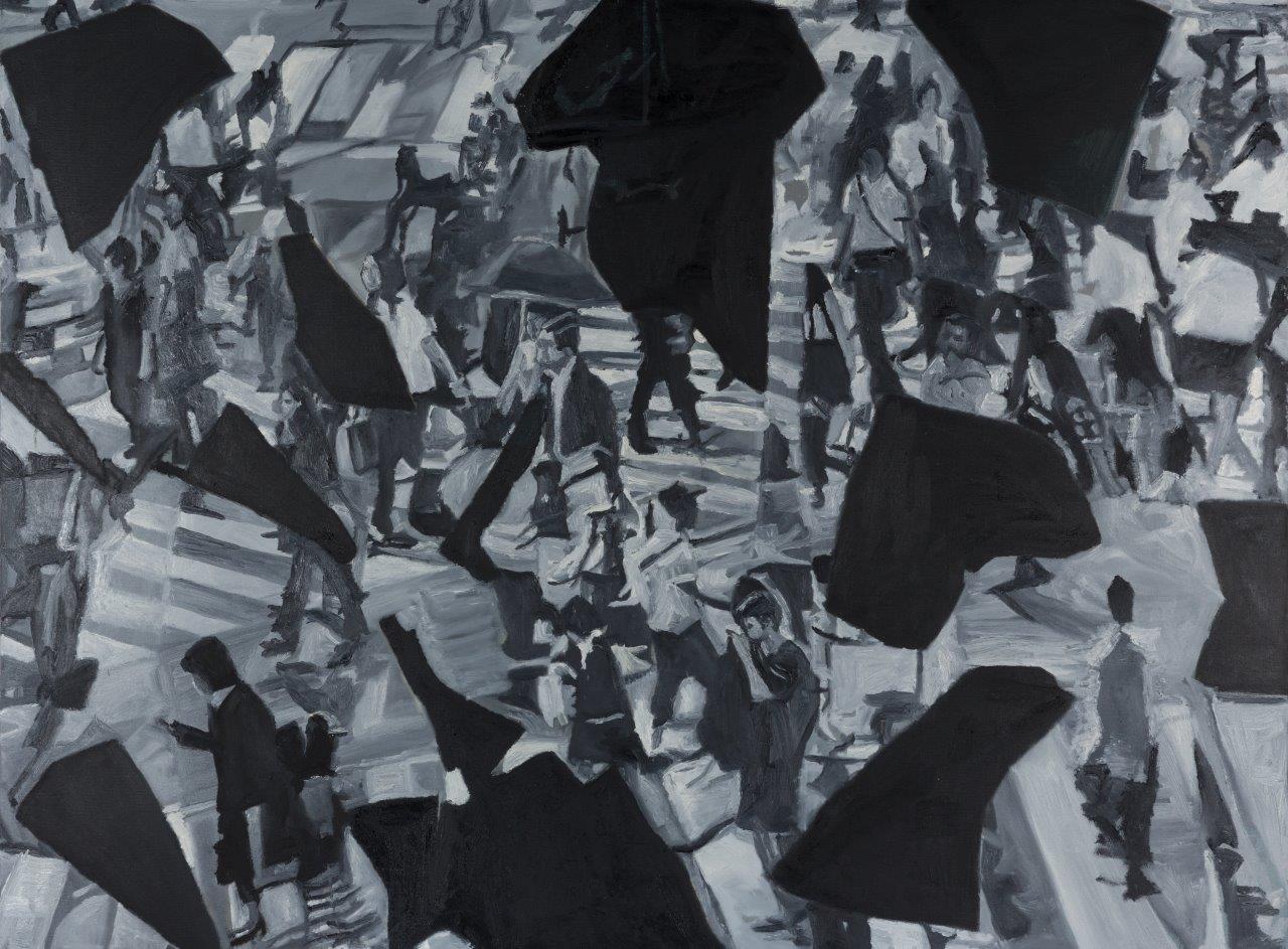 Jasmir Creed 'Fragmentation' 2017 oil on canvas 120 x 90 cm
